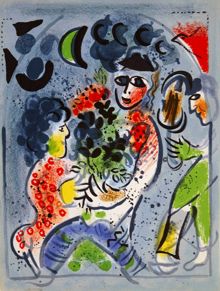 marc chagall bouquet woman and horse Welcome to spaightwood galleries, inc  ed marc chagall:  5 of the catalogue raisonné of chagall's lithographs, where the woman's pink hair is shown as bright.