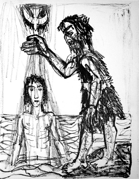 Image result for baptism woodcut