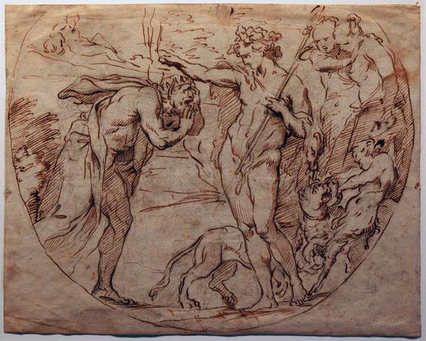 Francesco Salviati Drawings Annibale Carracci Italian