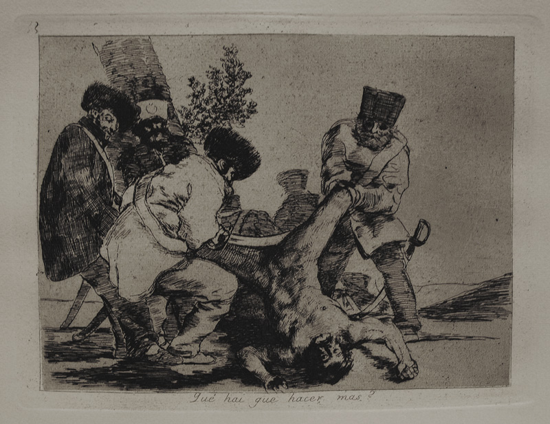 Original etching, lavis, drypoint, burin, and burnisher, c. 1808-1814. A very good impression from the fourth edition of the Disasters of War (1906).