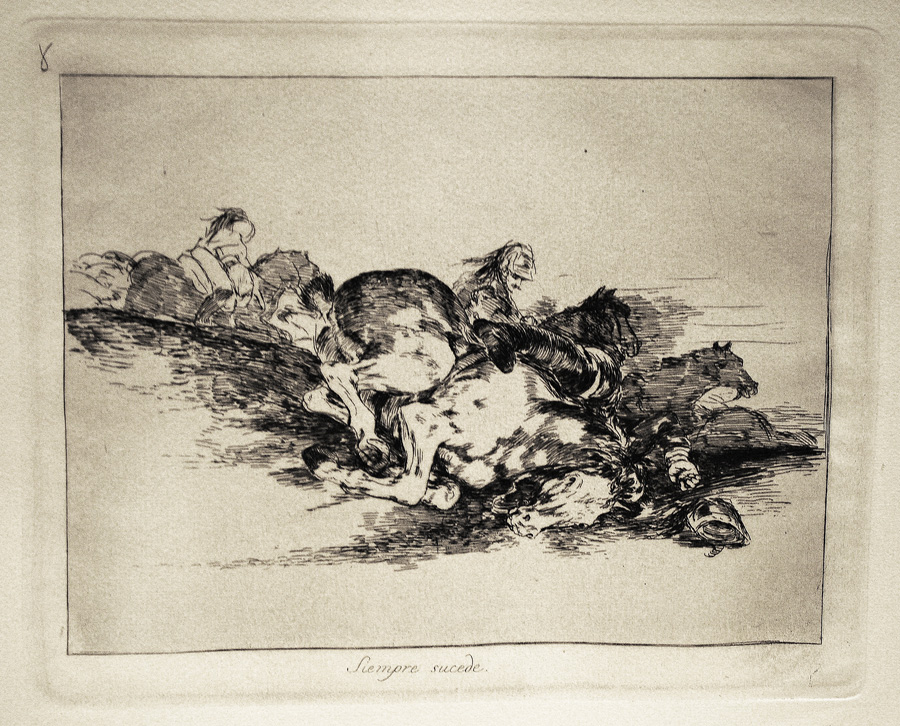 Siempre sucede / It always happens (Disasters of War, plate 8, Delteil 127, Harris 128). Original etching and drypoint, 1808-1814. After the first edition, ...