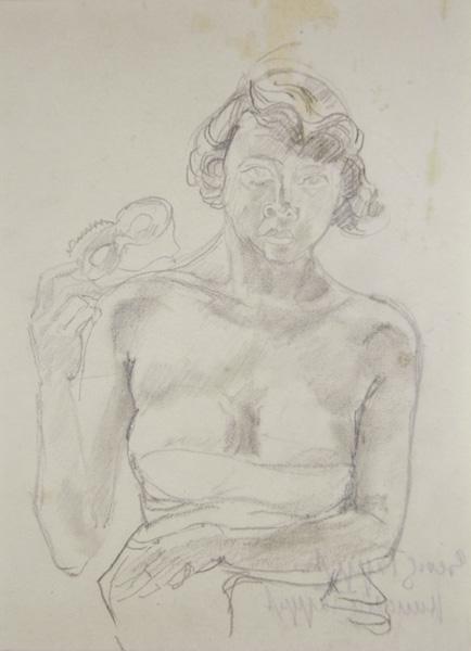 mascha mit maske expressionist